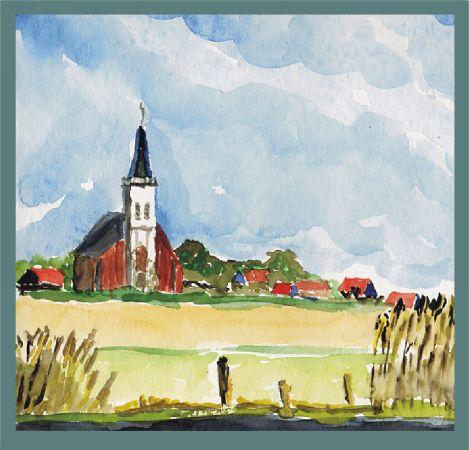 Texel: Kirche in Den Hoorn